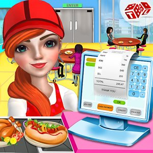 High School Cafe Cashier Girl – Kids Games